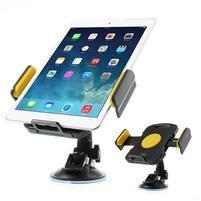 RotateCar otočný držiak tabletu v rozmere 92 - 205 mm do auta - žltý