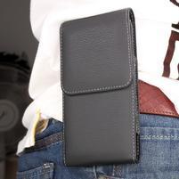 Kapsička pre mobil pre opasek pre telefony do rozmerov 152 × 74 mm - čierná