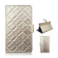 Luxury univerzálne puzdro pre mobil do 148 x 76 x 21 mm - zlaté