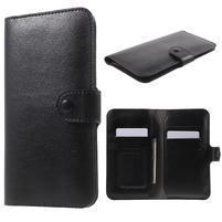 Peňaženkové univerzálne puzdro pre mobil do 140 x 68 x 10 mm - čierne