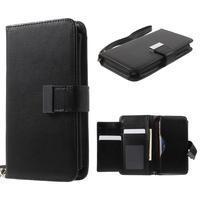 Luxusné univerzálne puzdro pre telefony do 140 x 70 x 12 mm - čierne