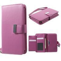 Luxusné univerzálne puzdro pre telefony do 140 x 70 x 12 mm - rose
