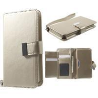 Luxusné univerzálne puzdro pre telefony do 140 x 70 x 12 mm - zlaté