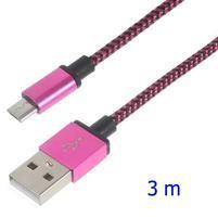DataS Micro USB kabel nabíjaci/prepojovací - rose