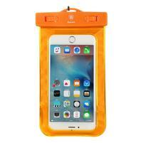 Base IPX8 vodotesný obal pre mobil do 158 x 78 mm - oranžový