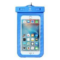 Base IPX8 vodotěsný obal na mobil do 158 x 78 mm - modrý