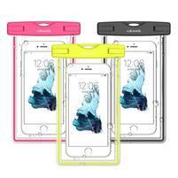 Fluorescent IPX8 vodeodolný obal pre mobil do 158 x 78 mm - zelený