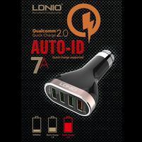 QCH7 extrémne rýchla autonabíjačka so 4 výstupmi USB a celkovým výstupom 7A