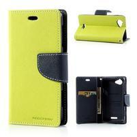 Mr. Fancy peňaženkové puzdro pre Sony Xperia L - tmavo modré