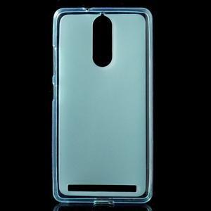 Matný gélový obal pre mobil Lenovo K5 Note - modrý - 1