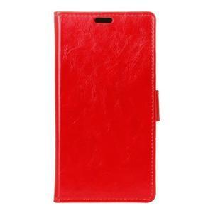 Horse PU kožené puzdro pre mobil Lenovo K5 Note - červené - 1