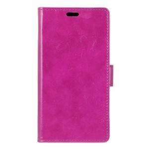 Horse PU kožené puzdro pre mobil Lenovo K5 Note - fialové - 1