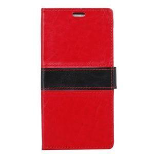Colory knížkové puzdro pre Lenovo K5 Note - červené - 1