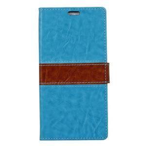 Colory knížkové puzdro pre Lenovo K5 Note - modré - 1