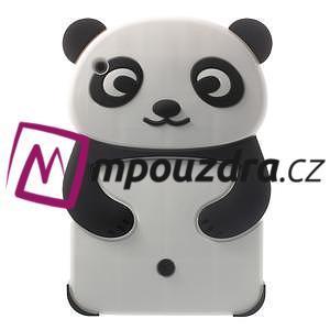 3D silikónové puzdro pre iPad mini 2 - čierná panda - 1