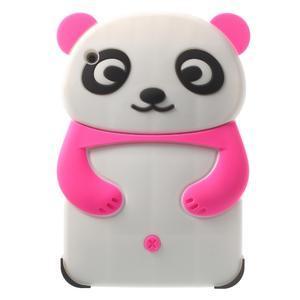 3D Silikonové puzdro na iPad mini 2 - ružová panda - 1