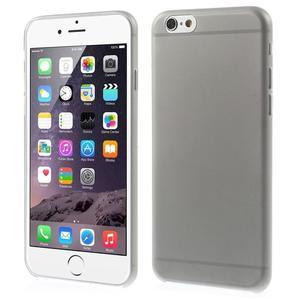 Ultra slim 0.3 mm plastové puzdro pre iPhone 6, 4.7  - sivé - 1