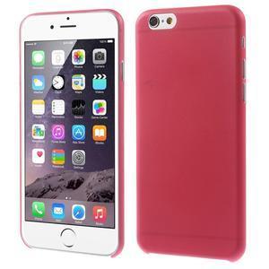 Ultra slim 0.3 mm plastové puzdro na iPhone 6, 4.7  - červené - 1