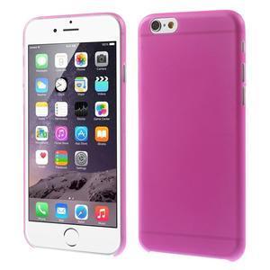 Ultra slim 0.3 mm plastové puzdro pre iPhone 6, 4.7  - ružové - 1