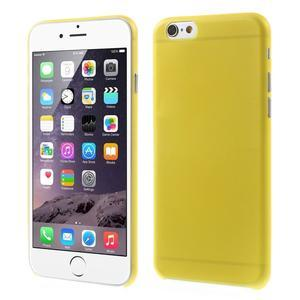Ultra slim 0.3 mm plastové puzdro pre iPhone 6, 4.7  - žlté - 1