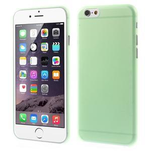 Ultra slim 0.3 mm plastové puzdro na iPhone 6, 4.7  - zelené - 1