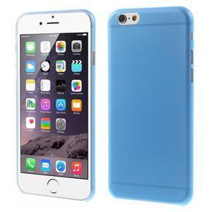 Ultra slim 0.3 mm plastové puzdro pre iPhone 6, 4.7  - modré - 1