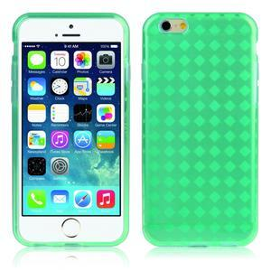 Gélové kostkované puzdro pre iPhone 6, 4.7 - zelené - 1
