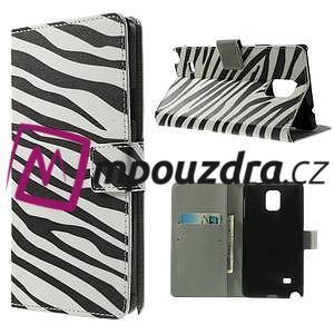 Peňaženkové puzdro na Samsung Galaxy Note 4- zebrované - 1