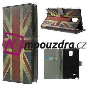 Peňaženkové puzdro na Samsung Galaxy Note 4- UK vlajka - 1