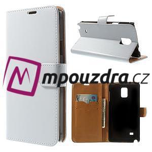 Peňaženkové  kožené puzdro na Samsung Galaxy Note 4- biele - 1