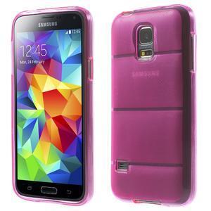 Gélové puzdro pre Samsung Galaxy S5 mini G-800- vesta ružová - 1