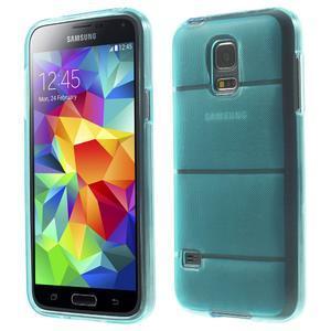 Gelové pouzdro na Samsung Galaxy S5 mini G-800- vesta světlemodrá - 1