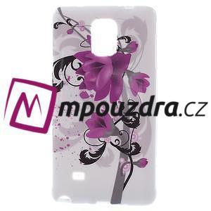 Gélové puzdro pre Samsung Galaxy Note 4- fialový kvet - 1