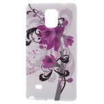 Gélové puzdro pre Samsung Galaxy Note 4- fialový kvet - 1/5
