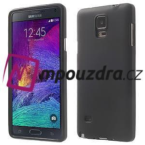 Gélové puzdro pre Samsung Galaxy Note 4- čierné - 1