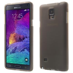 Gélové puzdro na Samsung Galaxy Note 4- šedé - 1