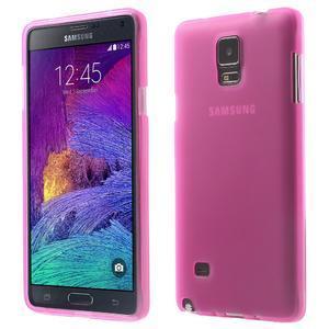 Gélové puzdro pre Samsung Galaxy Note 4- ružové - 1