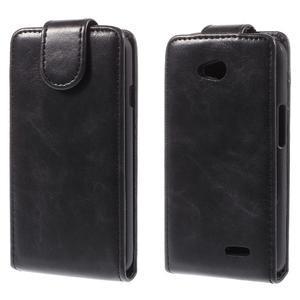 Flipové puzdro pre LG L65 D280 - čierné - 1