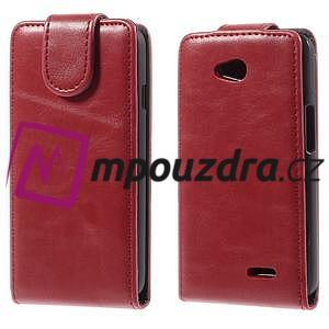 Flipové puzdro na LG L65 D280 - červené - 1