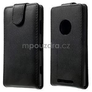 Flipové puzdro na Nokia Lumia 830 - čierné - 1