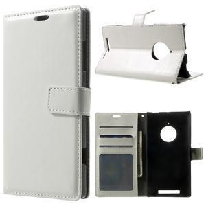Peňaženkové puzdro na Nokia Lumia 830 - biele - 1