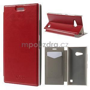 Flipové puzdro na Nokia Lumia 730 - červené - 1
