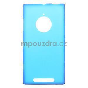 Gélové matné puzdro na Nokia Lumia 830 - modré - 1