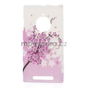 Gélové puzdro na Nokia Lumia 830 - kvetoucí větvička - 1