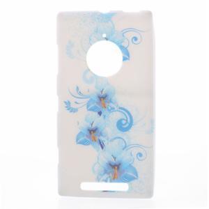Gélové puzdro na Nokia Lumia 830 - modrá lilie - 1