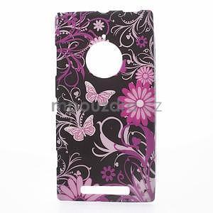Gélové puzdro na Nokia Lumia 830 - motýl a květ - 1
