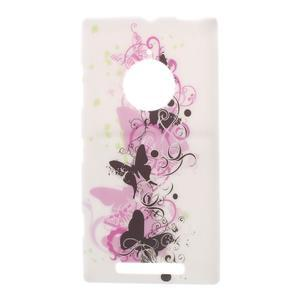 Gélové puzdro na Nokia Lumia 830 - kvet motýľa - 1