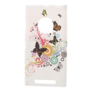 Gélové puzdro na Nokia Lumia 830 - motýľci - 1