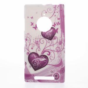 Gélové puzdro na Nokia Lumia 830 - dve srdce - 1