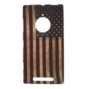 Gélové puzdro na Nokia Lumia 830 - USA vlajka - 1